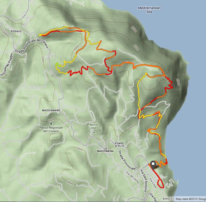 Traccia 23 km 2014